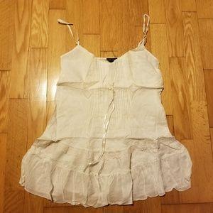 Fang Cream Cotton Boho Camisole Tank